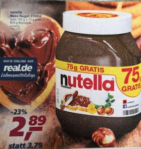 Nutella ab nächster Woche bei real