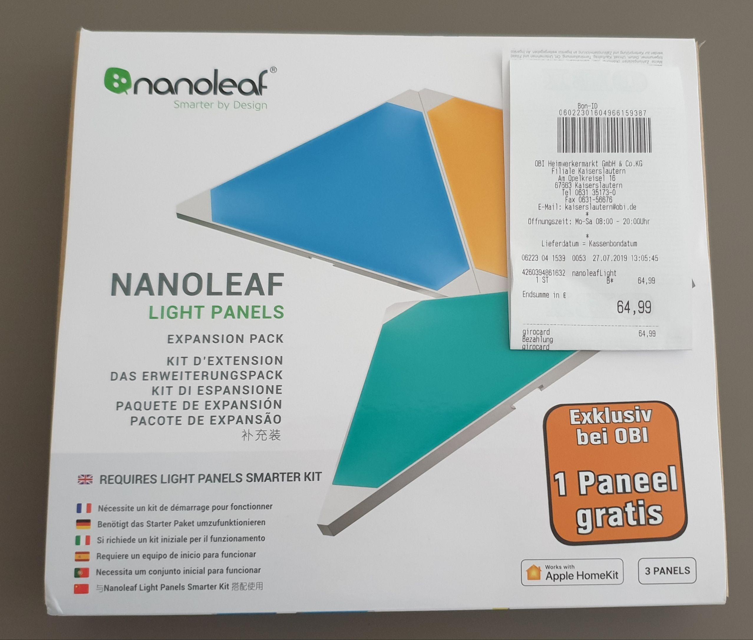 Lokal OBI Kaiserslautern Nanoleaf 4er Erweiterung (3+1)