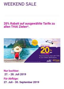 Weekend Sale Thai Airways 20 %