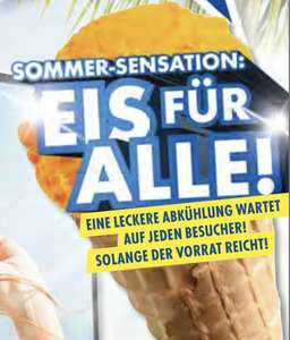 Lokal in 24 Euronics Filialen: Kostenloses Eis für jeden Besucher!