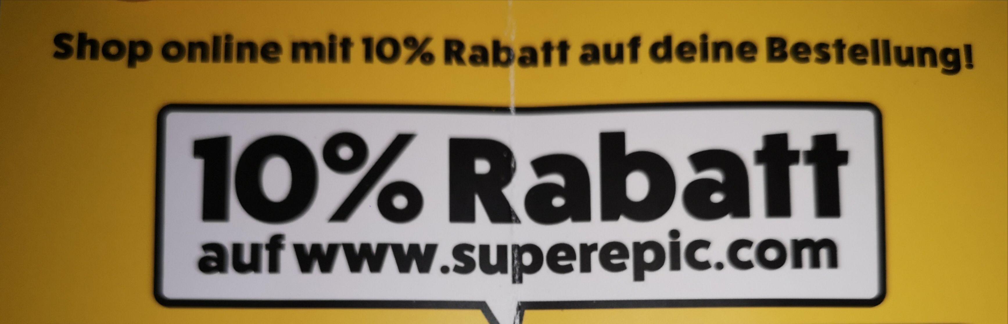 SuperEpic.com: 10% auf Bestellung OHNE MBW