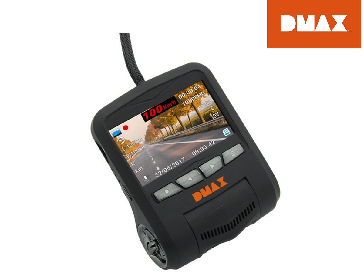 DMAX FHD-Dashcam mit Fahrzeugdatenübertragung (On-Board-Diagnose, Für Tag- + Nachtaufnahmen) [iBOOD]