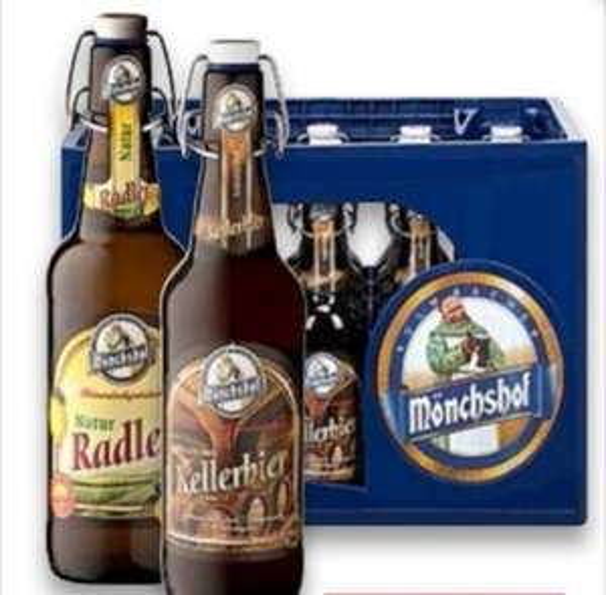 Mönchshof Kellerbier & Naturradler 20x0,5l ++ Ahoj Brause je 0,33l Dose für 0,79€