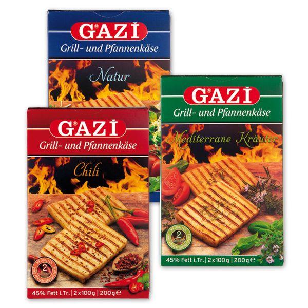 Gazi Grill- und Pfannenkäse 2x100g in verschiedenen Sorten & 1x 0,40€ Cashback möglich