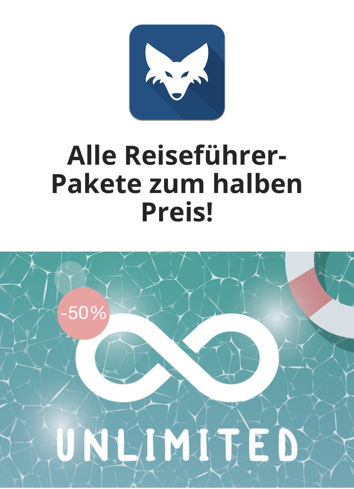 Tripwolf Unlimited 50% für 9,99€ [itunes] [App] [googleStore]