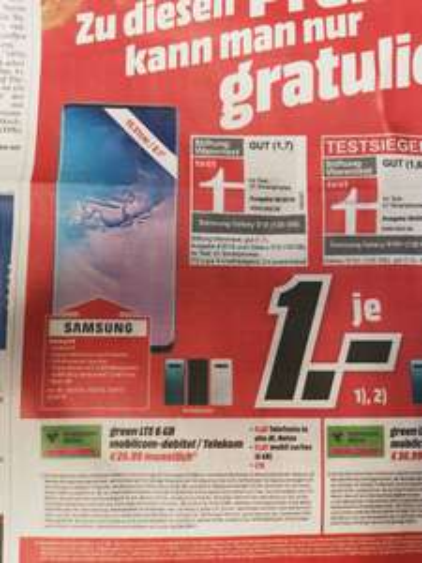 Mediamarkt Green LTE 6GB Telekom mit Samsung S10 128gb oder S10+