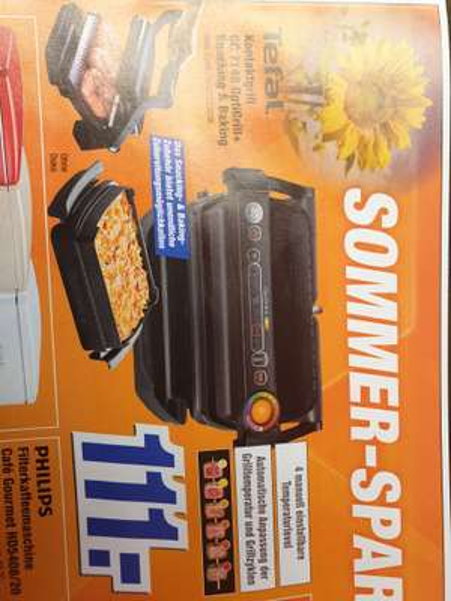 (lokal Famila-expert Bielefeld) Tefal Kontaktgrill GC 7148 OptiGrill + Snacking & Baking für 111€