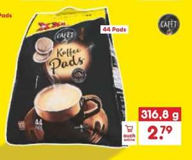 XXL Kaffeepads bei Netto/ 6,34 Cent pro Pad