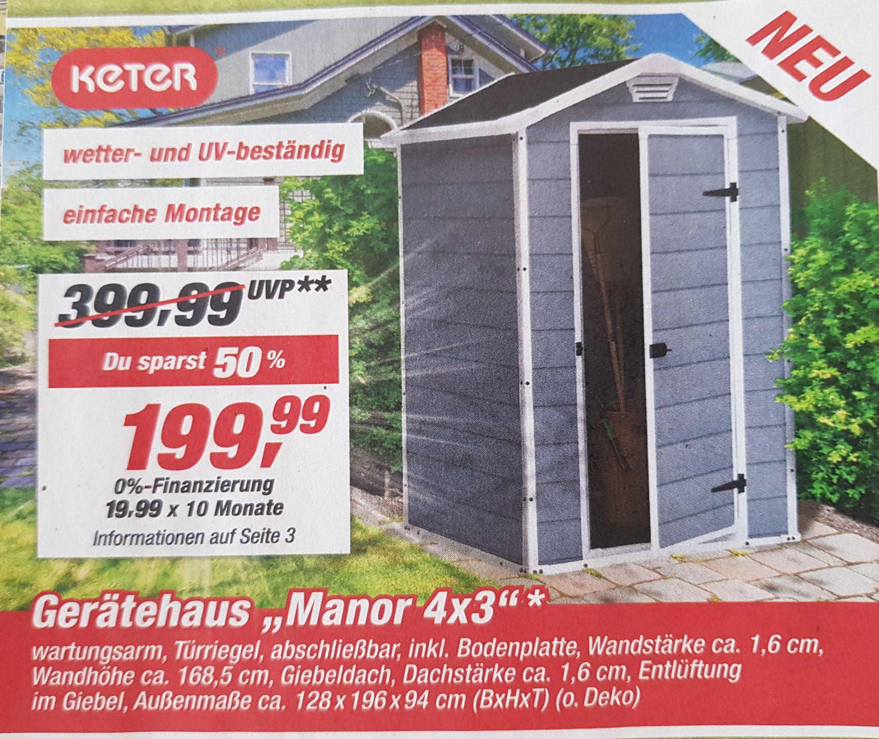 [TOOM Baumarkt] Keter Gerätehaus / Geräteschuppen / Gartenhaus Manor 4×3