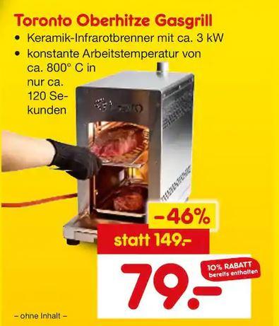 [Lokal - Netto Marken-Discount Mönchengladbach/Gelsenkirchen/Elze] TEPRO Steakgrill Oberhitzegrill bis 800°C für 79€