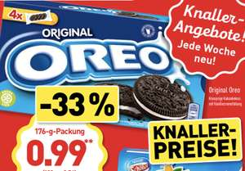 Oreo Cookies Original 176g für 0,99€ [Aldi Nord ab 05.08.]