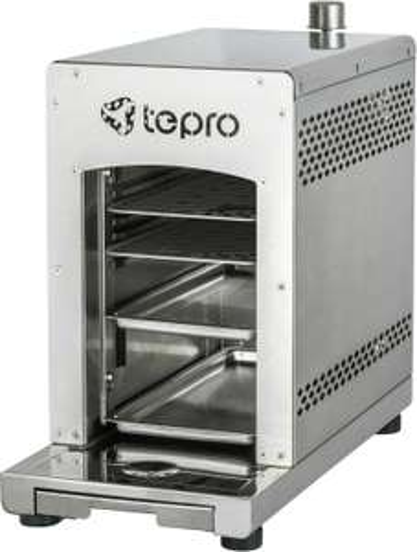 Tepro Toronto Oberhitze-Gasgrill (3kW Keramik-Infrarotbrenner, bis 800°C, Piezo, entnehmbare Schienen, Fettauffangschale,  Edelstahl)