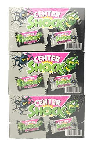 Center Shock Monster Mix: 3 Boxen mit 100 Kaugummis, extra-sauer, Cola und Blutorange
