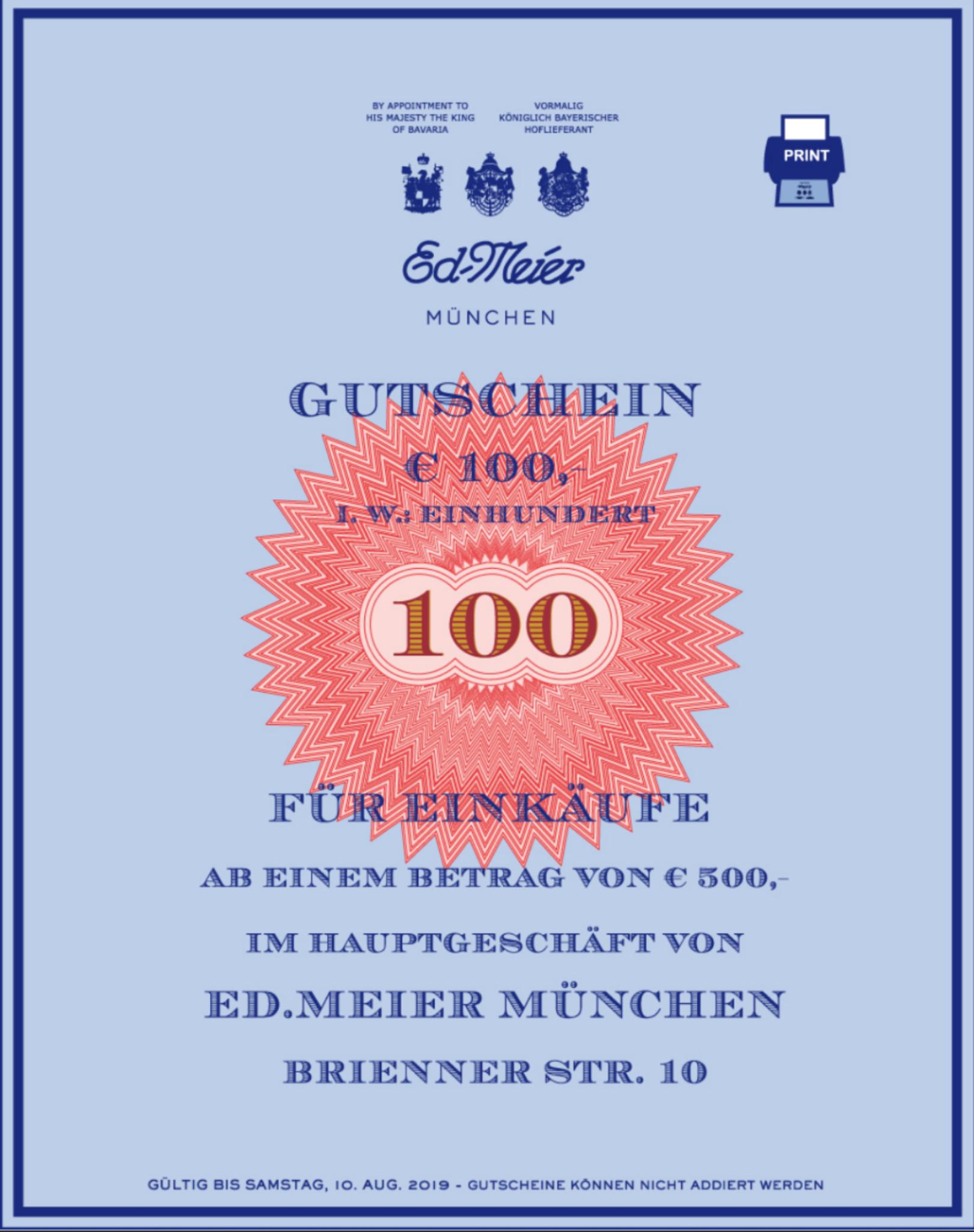 [lokal] [München] Ed.Meier Schuhe 100€ Rabatt bei Newsletter Anmeldung