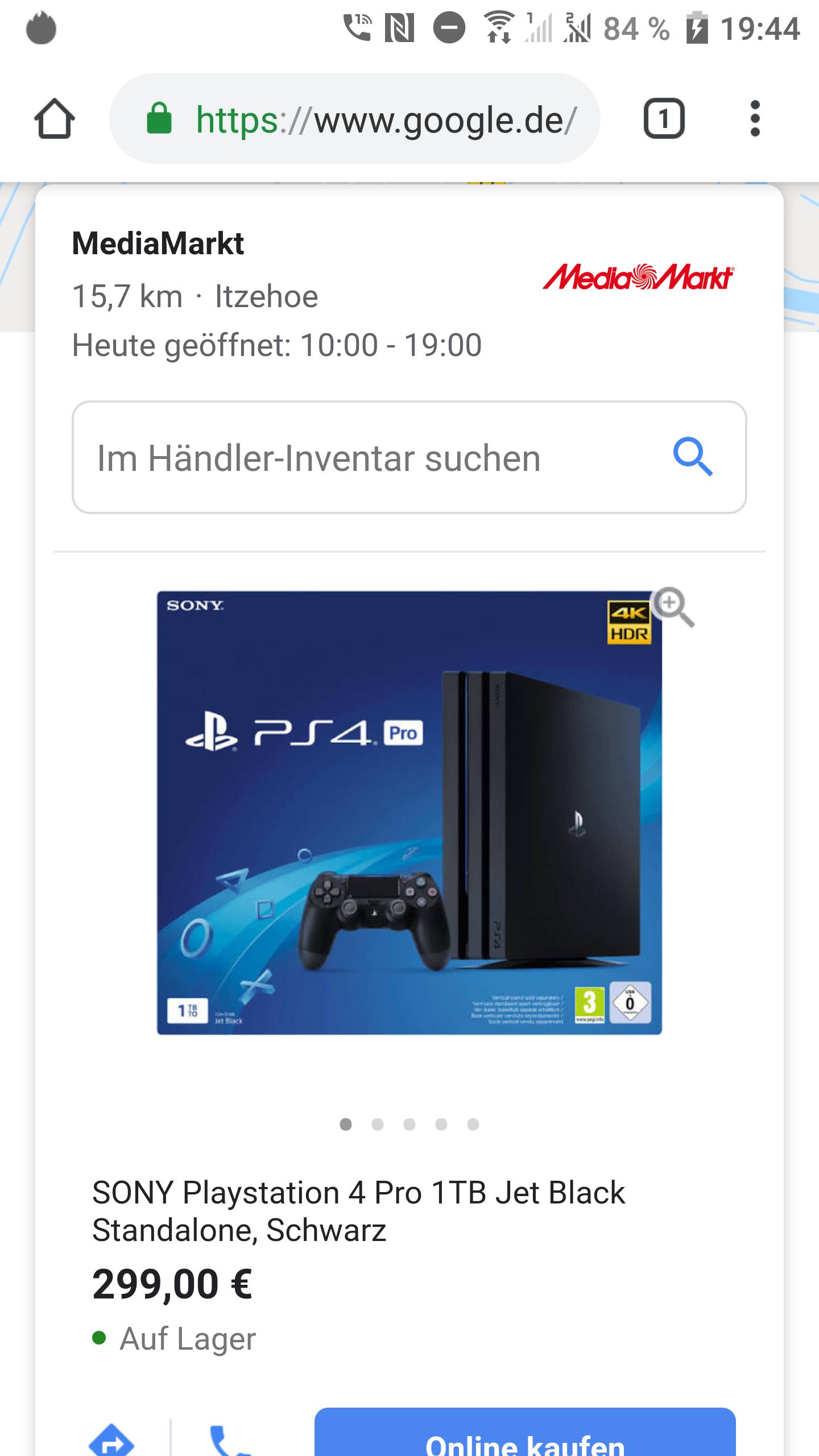 [Lokal] Media Markt Itzehoe - PS4 Pro 1TB Konsole
