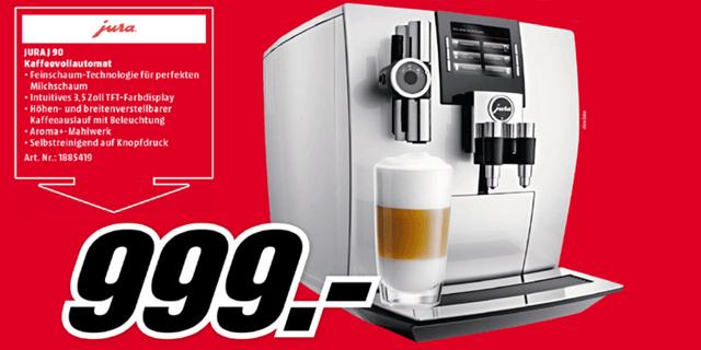 [Lokal] Media Markt Leipzig - Jura J90 One Touch Kaffeevollautomat