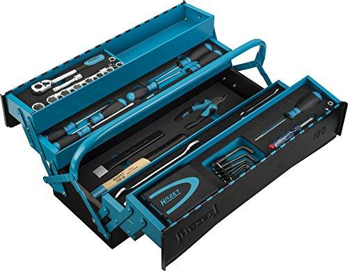 HAZET Metall-Werkzeugkoffer (mobiler Montage-Koffer, mit Profi-Sortiment, 79 [Update: jetzt für 228,09€]