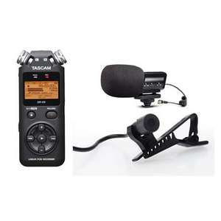 Tascam DR-05 Audiorecorder (320kbit/s) + Marantz Scope SB-C2 Mikrofon + Stony-Edge Ansteckmikrofon