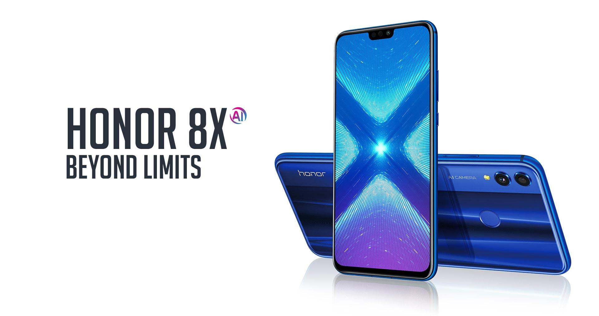 Honor 8X 64GB + Case + Powerbank + Honor Band 3