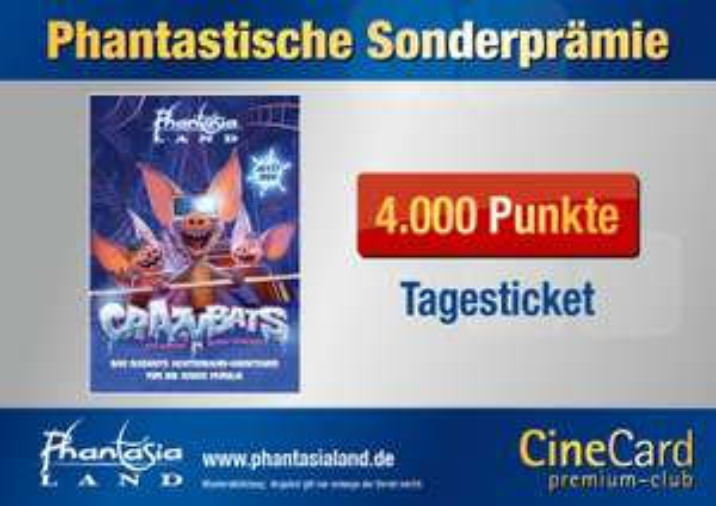 [Offline] Kinopolis: Phantasialand - Tagesticket für 4000 Cinecard-Points