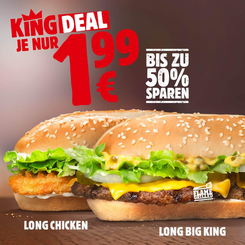 Burger King: Long Big King (als King Deal, kein Coupon oder App notwendig)