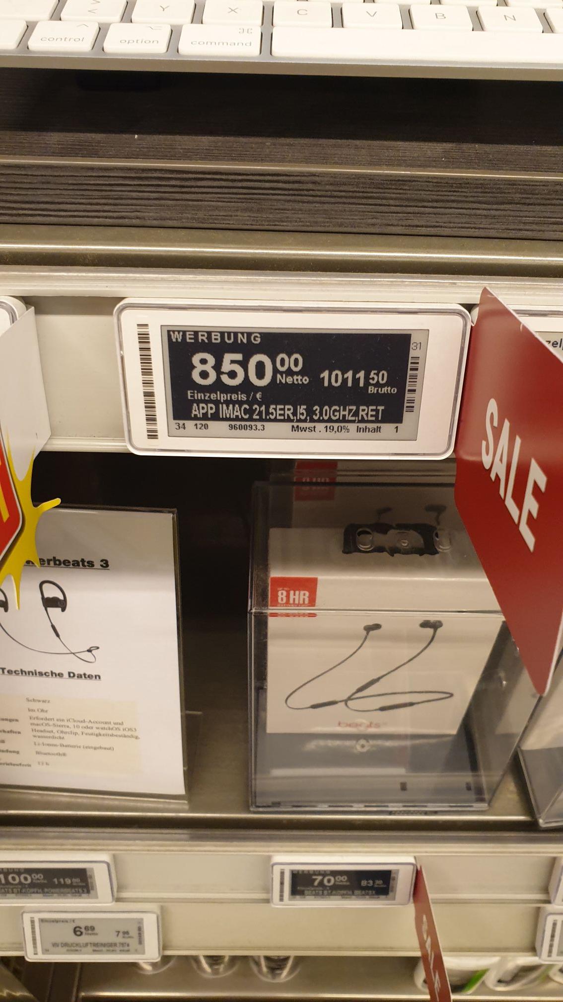 [Metro deutschlandweit] iMac 21.5 4K Retina, i5, 1TB,