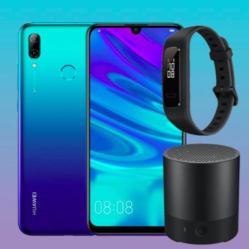 Huawei P Smart inkl. Band 3e + Mini Speaker für 5,99€ ZZ mit Blau Allnet L (3GB LTE) mtl. 10,99€ od. Klarmobil 2GB LTE Tarif für mtl. 9,99€