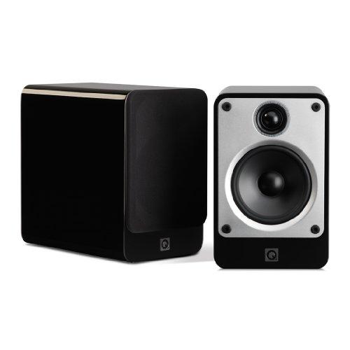 Q Acoustics Concept 20 Regallautsprecher, Hochglanz Schwarz (Paarpreis)