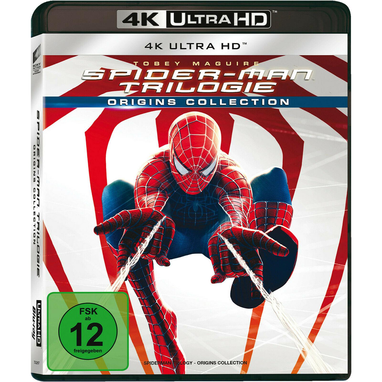 Spider-Man Trilogie Origins Collection 4K (4K UHD Blu-ray) für 29€ versandkostenfrei (Media Markt)