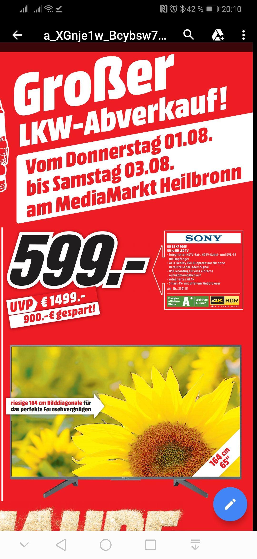 [Lokal] Media Markt Heilbronn - Sony KD 65 XF 7005 TV