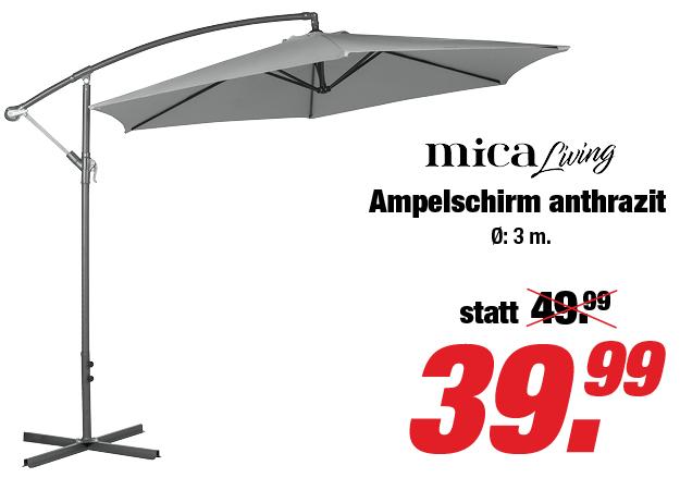 ROFU - Ampelschirm Ø 3m für 39,99€ - nur offline