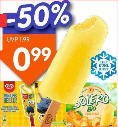 Langnese Eis Minions oder Solero, verschiedene Sorten, die Packung für nur 99 Cent [Jawoll]