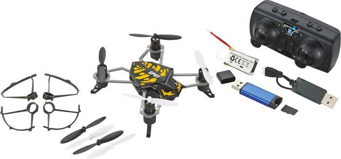 Revell Spot Quadcopter Drohne für Einsteiger (2,4GHz 4-Kanal Fernbedienung, 50m Reichweite, Flugzeit 7 Minuten, HD-Kamera, LED-Beleuchtung)