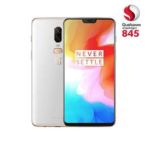 OnePlus 6 (Dual SIM) 128 GB Android 8.1 Oreo/Oxygen UK Version SIM-Free Smartphone - White