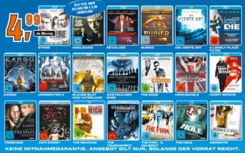 Diverse Blu-rays für 4,99€ im Saturn Siegburg/Sankt Augustin [lokal?]