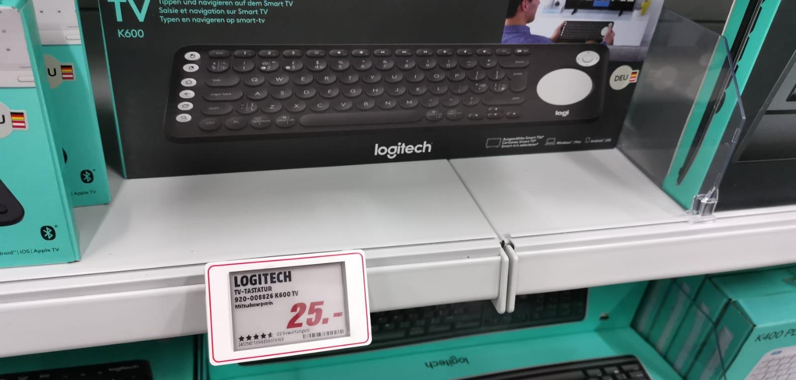 Logitech K600 für 25€ (im Media Markt Speyer Lokal )Smart TV-Tastatur mit integriertem Touchpad und D-Pad - Bluetooth und USB-GraphitLokal