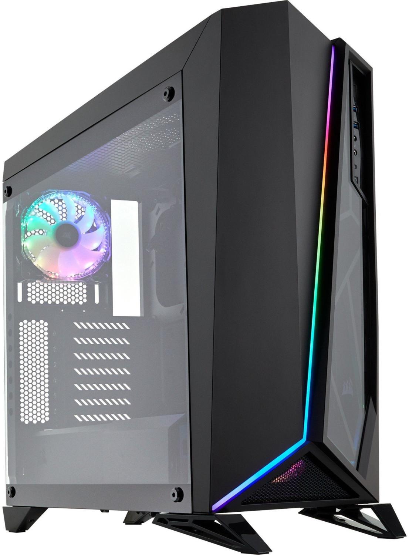 Corsair Spec-Omega RGB PC-Gehäuse mit Echtglasfenster (ATX, 2x 120mm RGB Lüfter, RGB-LED Beleuchtung über Software steuerbar)