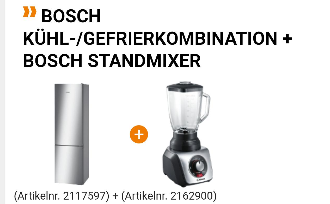 [Saturn] Bosch KGN39VI45 Kühl-/Gefrierkombi + Mixer + 90€ Eismann + shoop oder payback