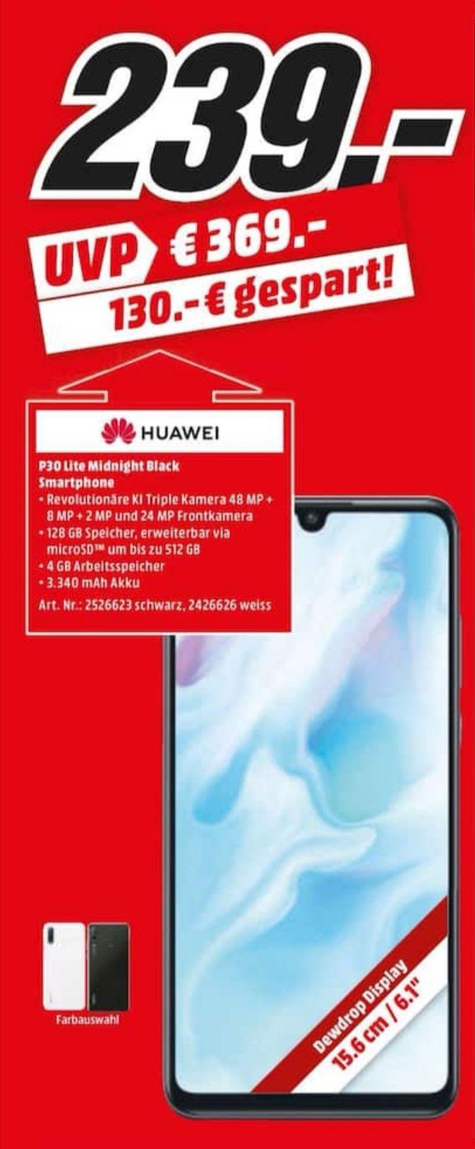 [Lokal Media Markt Heilbronn] Huawei P30 Lite White Smartphone für 239€