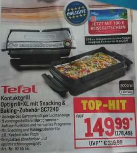 Tefal OptiGrill+XL inkl. Snacking & Baking GC724D bei Metro (Gewerbe)