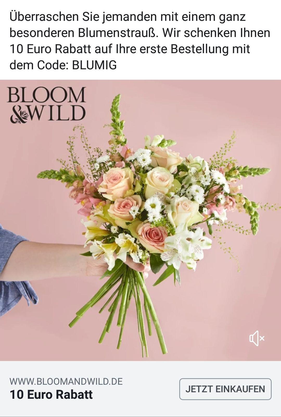 [Bloom and wild] Blumen: 10 Euro Rabatt für Neukunden