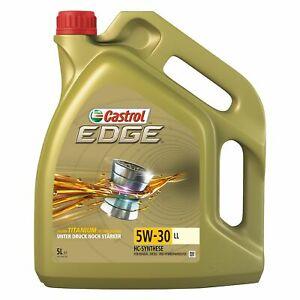 (eBay WOW) 5 L LITER CASTROL EDGE FLUID TITANIUM 5W-30 LL MOTOR-ÖL (günstiger ab 2 bzw. 3 Einheiten)