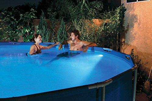 LED-Poolbeleuchtung mit Fernbedienung, Magnetbefestigung oder frei schwimmend - Steinbach