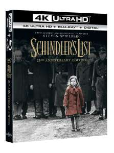 [Zoom.co.uk] Tagesdeal - Schindler's Liste - 4K / UHD Bluray - nur OV