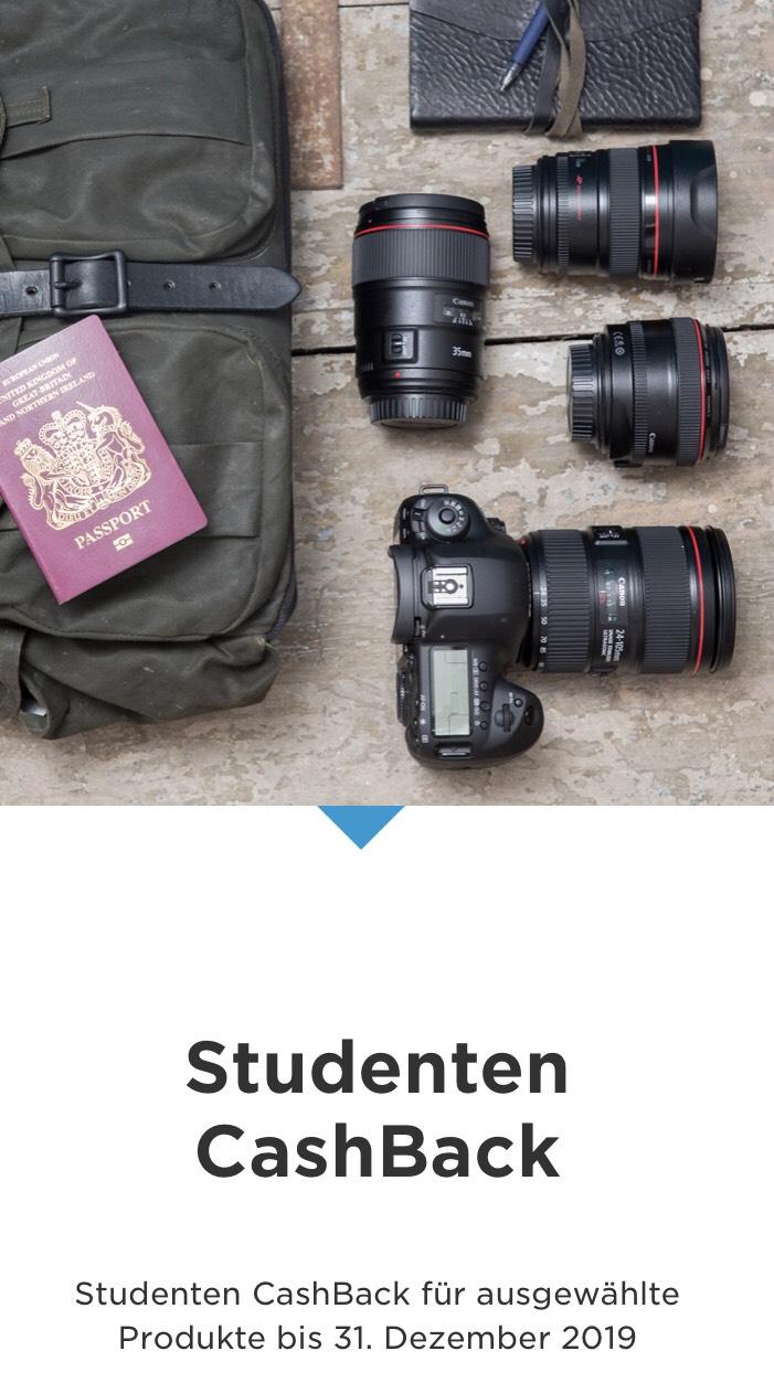 Canon Studenten Cashback-Aktion