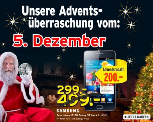 [Schweiz] Samsung i9100 Galaxy S2 16 GB bei interdiscount.ch 299.- CHF