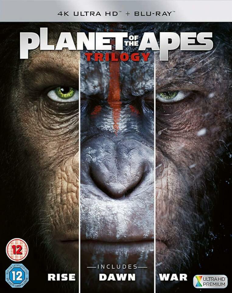 Planet der Affen Trilogie (4K UHD + Blu-ray) für 15.87€ (Zavvi.com)