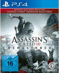Assassin's Creed III Remastered (PS4) für 23,99€ (Amazon Prime & Müller)