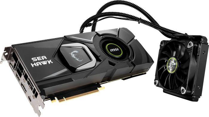 MSI GeForce RTX 2080 Sea Hawk X, 8GB GDDR6, HDMI, 3x DP, USB-C (V372-008R)
