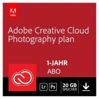 Adobe Creative Cloud Foto-Abo mit Photoshop, Lightroom und 20GB Cloudspeicher (1 Jahreslizenz)